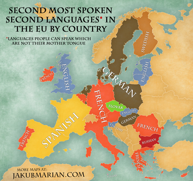 Superb European Countries In French Language Part - 5: Second-most-spoken