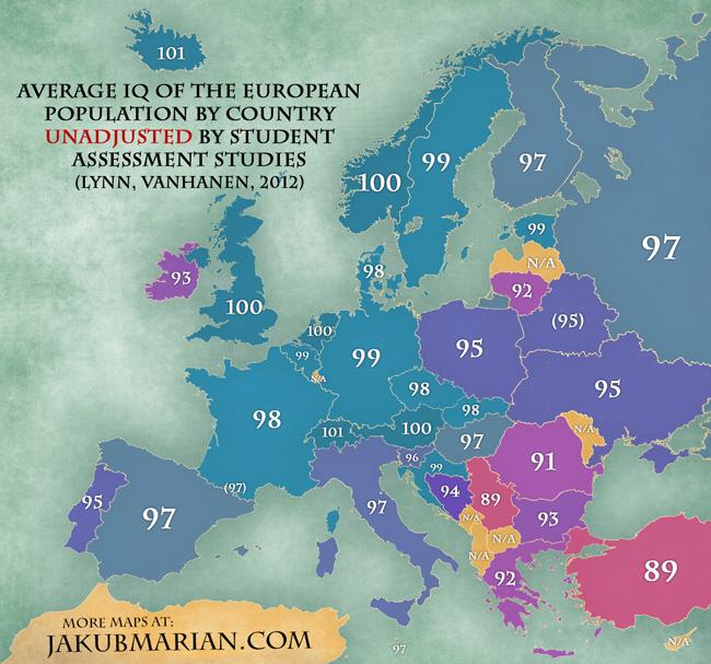 Mapa de IC por países