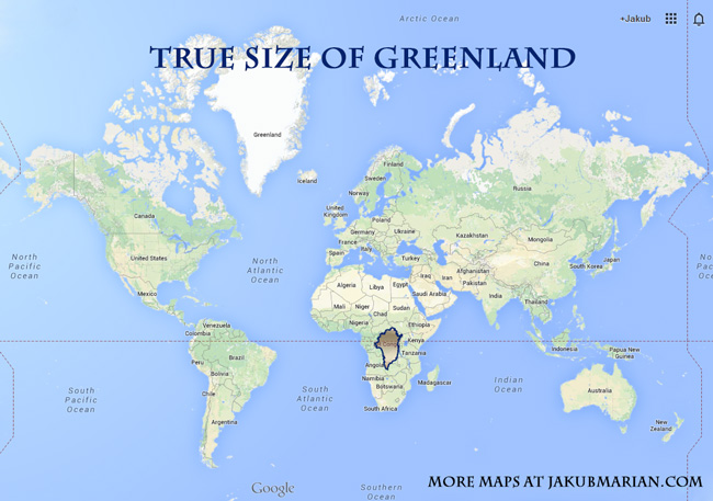 How Big Are Greenland And Russia In Comparison To Africa