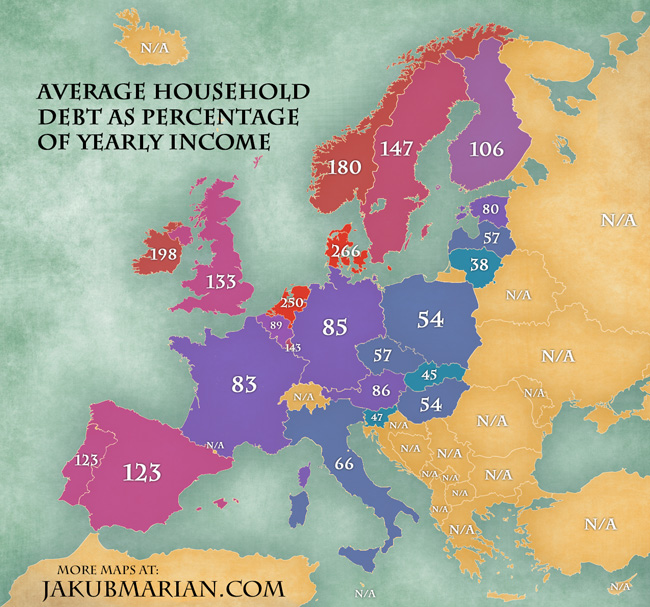 Long Term Loan >> Household debt in Europe by country (2012)