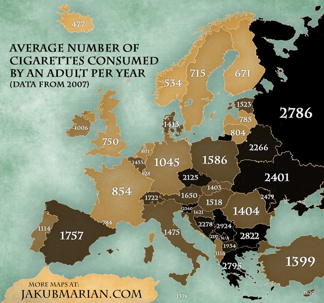 how to calculate pack years of cigarette smoking