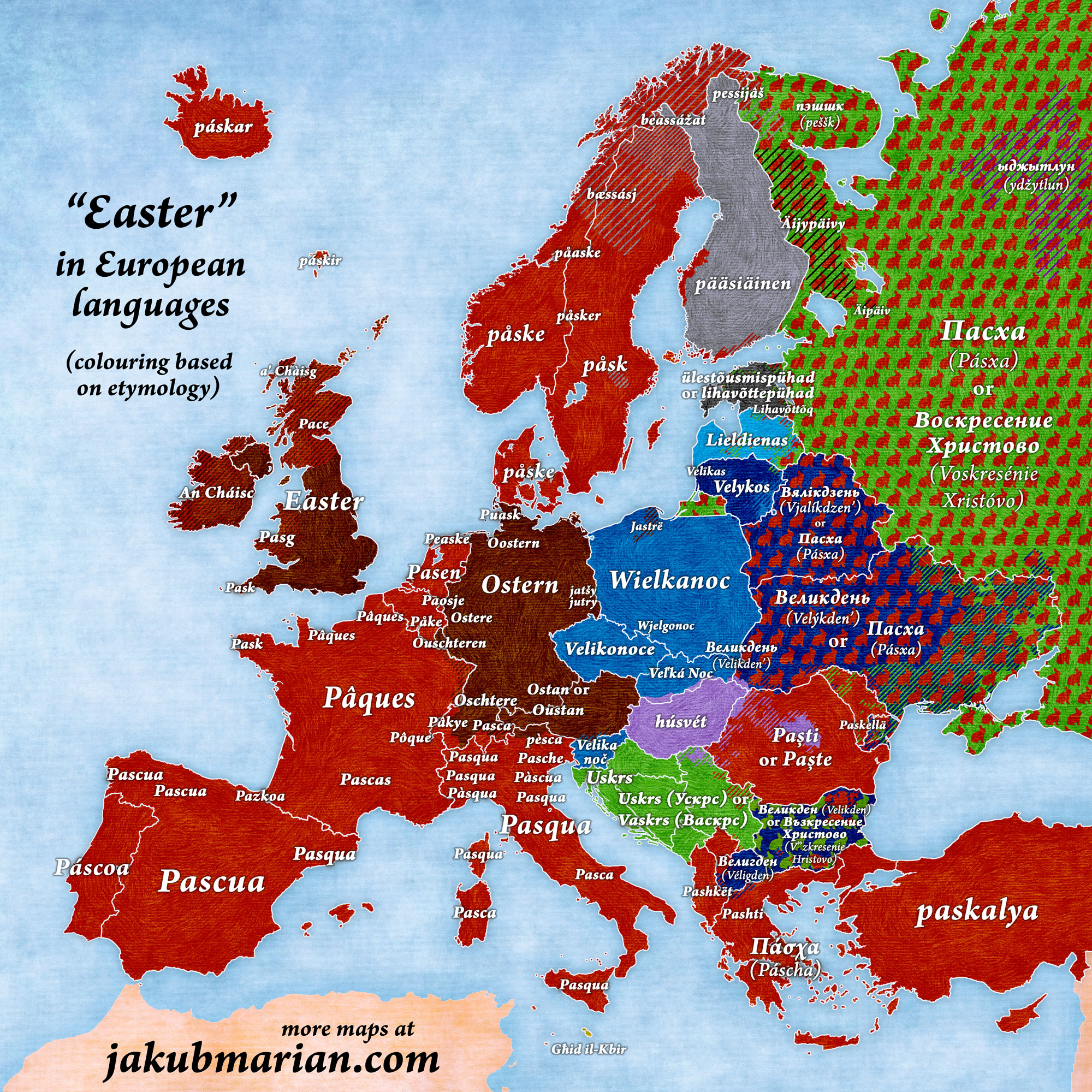 Easter in European languages