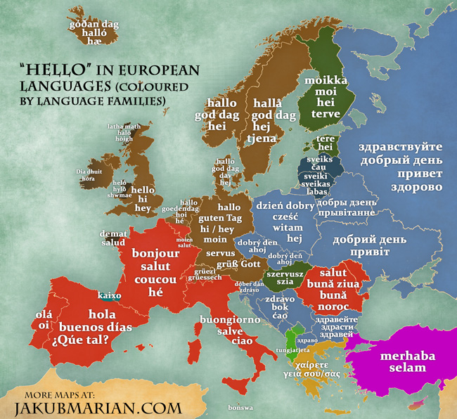 hello in European languages