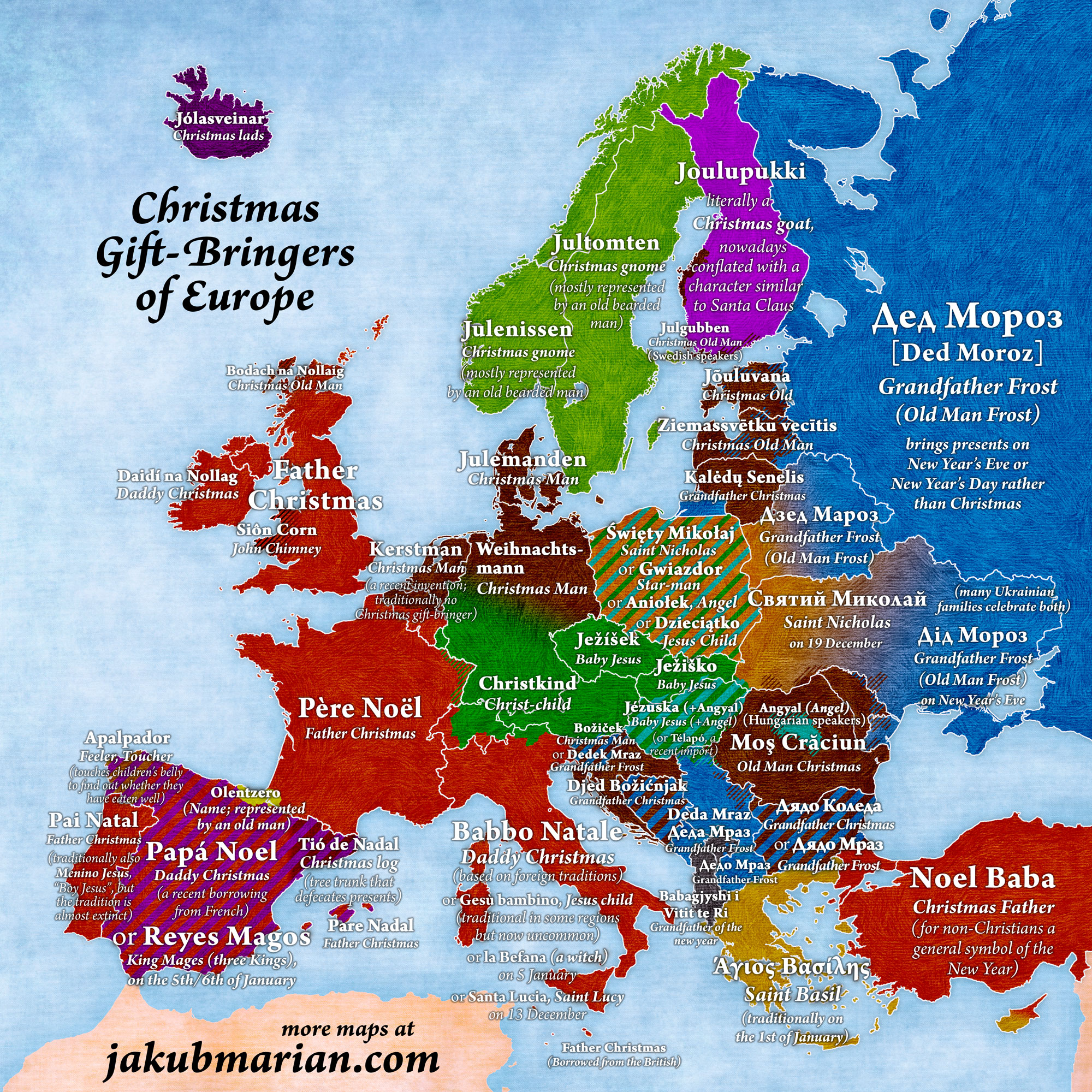 Christmas Gift-Bringers of Europe