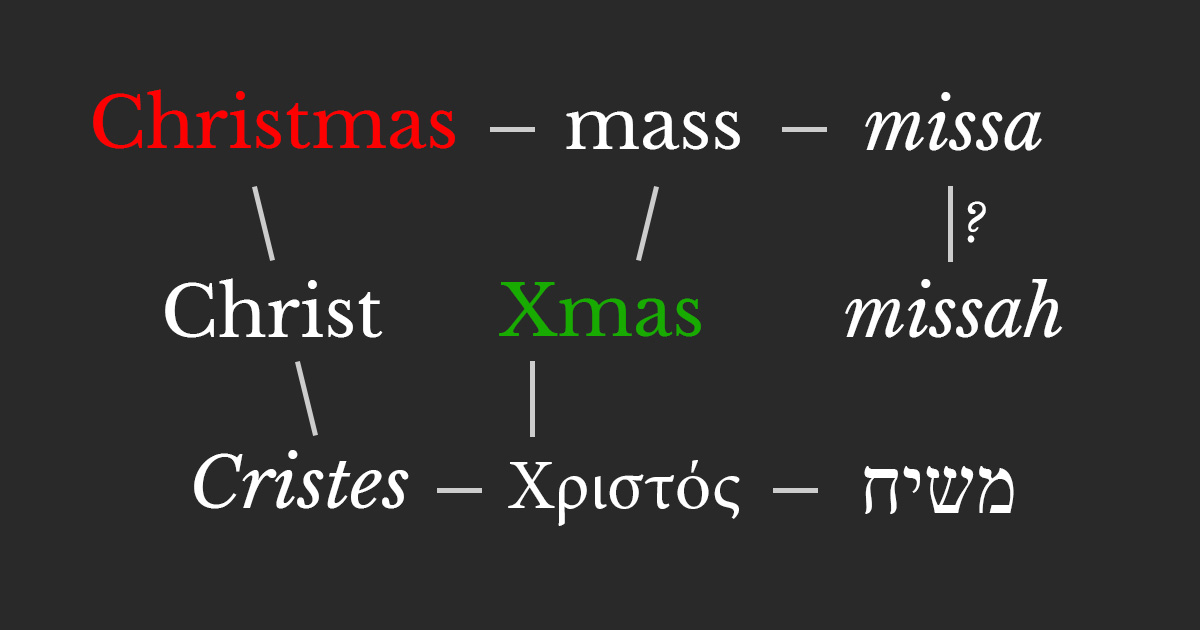 origin of the words christmas and xmas - Merry Christmas In Greek Language