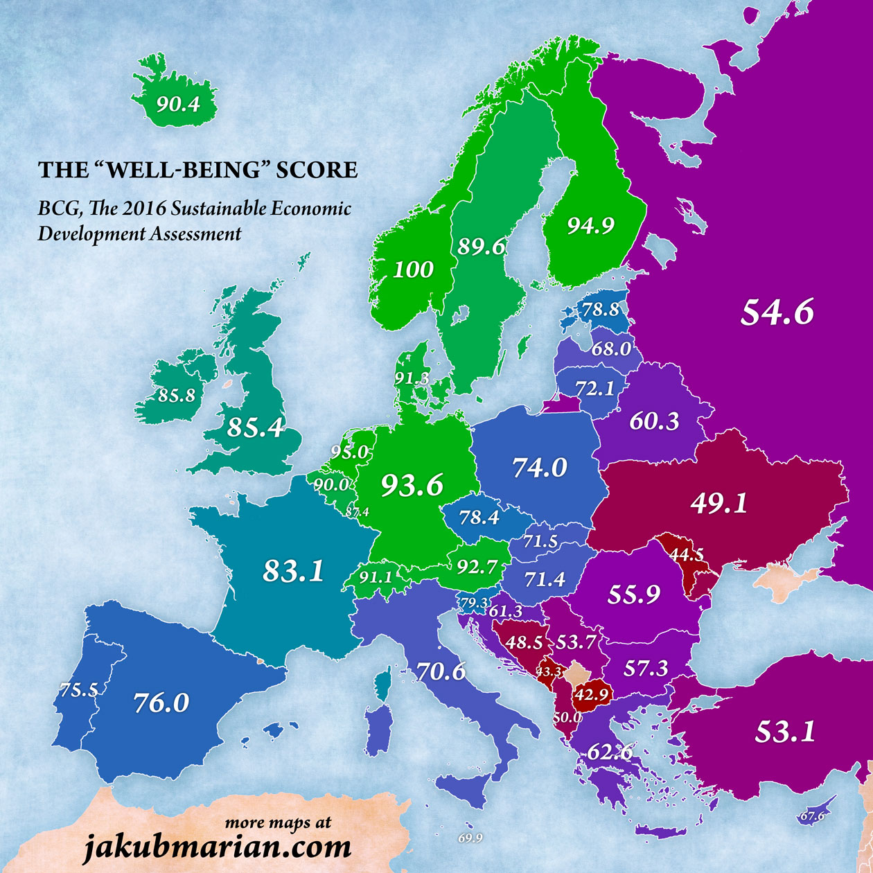 best countries to live in europe