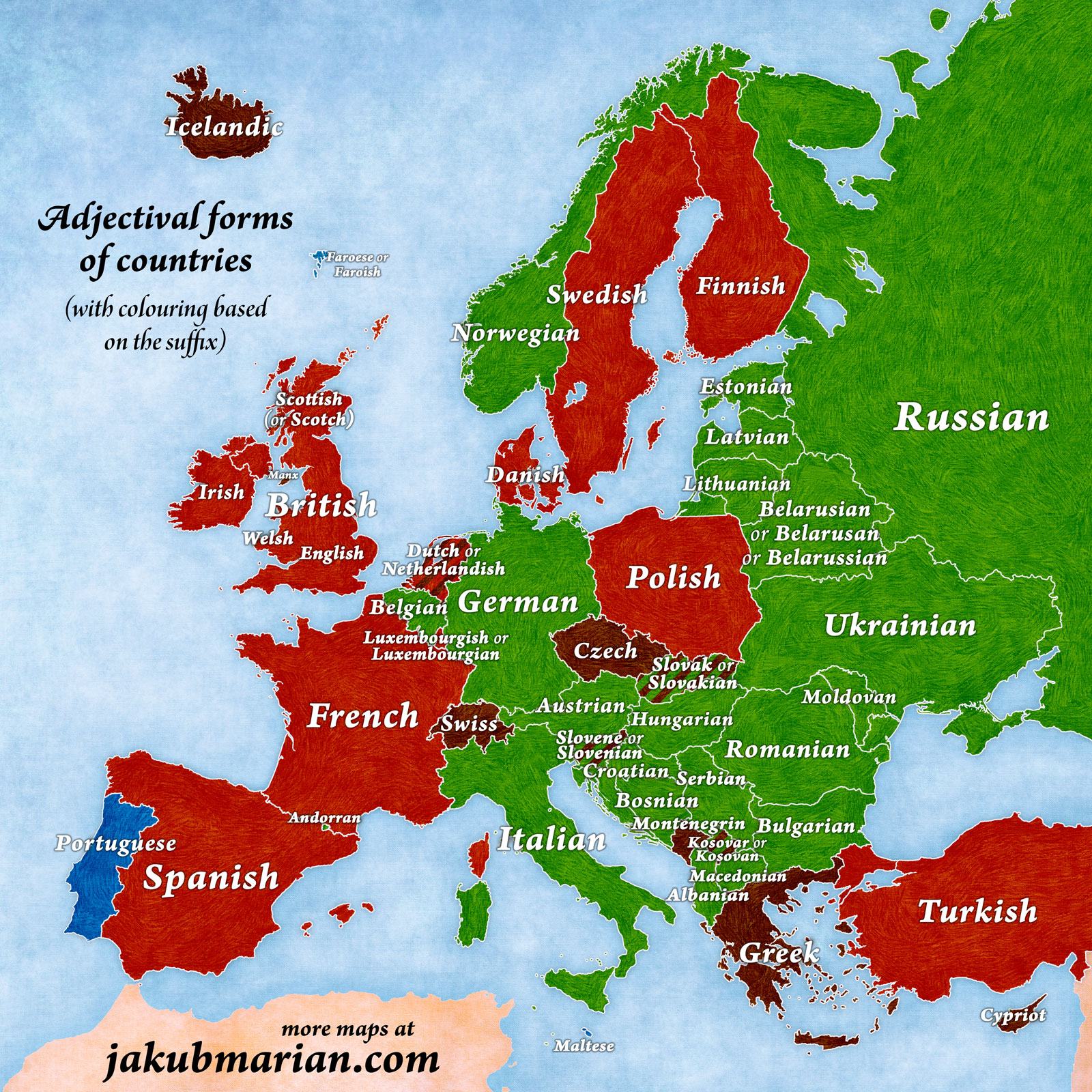 english european countries