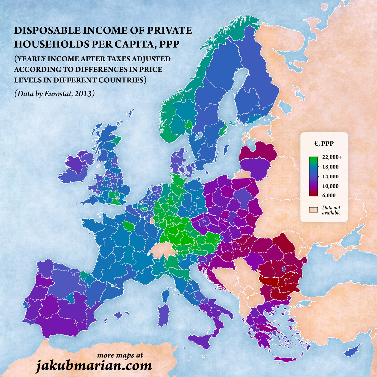 Disposable income in Europe