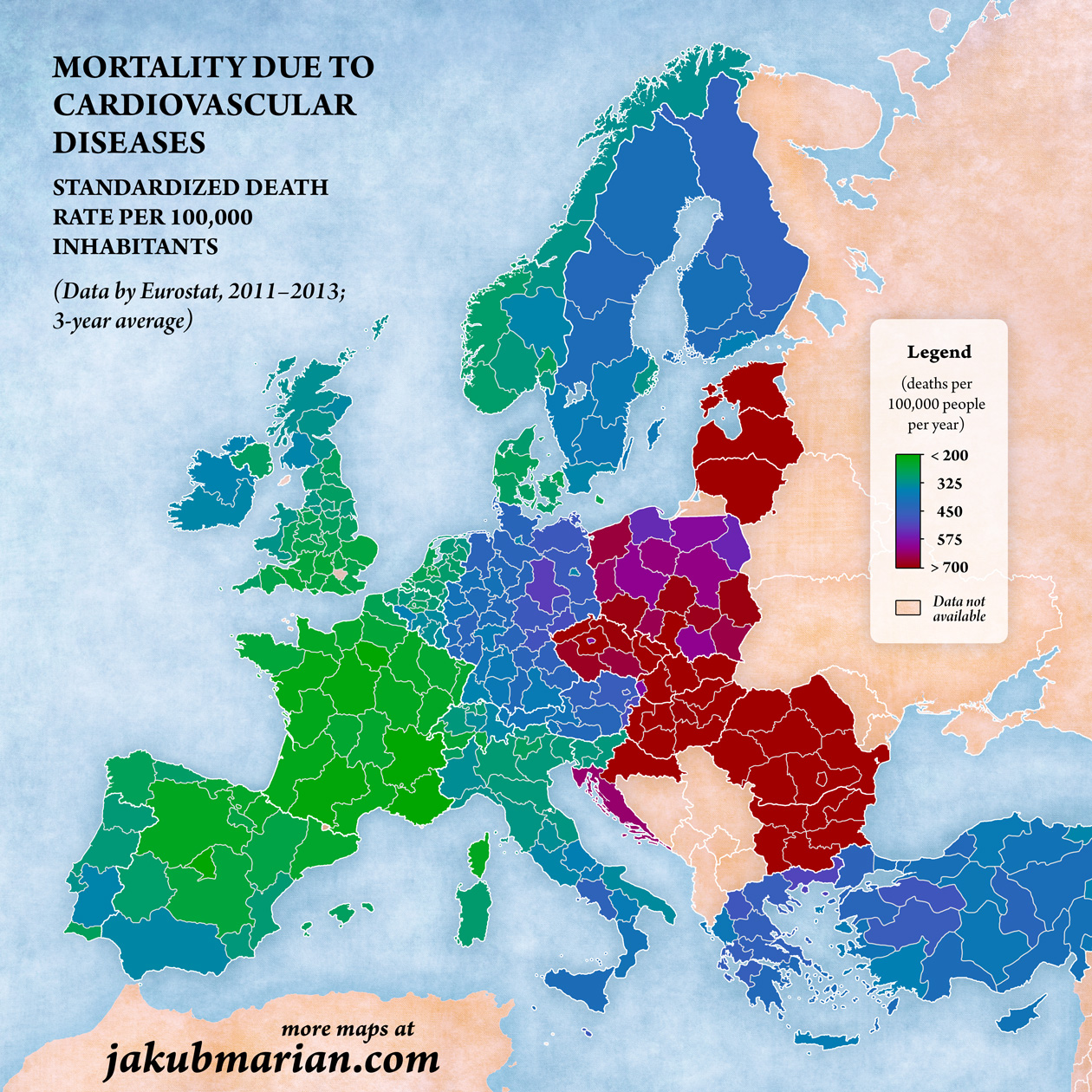 Cardiovascular disease Europe mortality