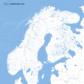 Water map Scandinavia