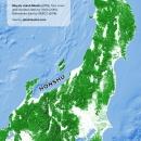 Tree cover of Honshu
