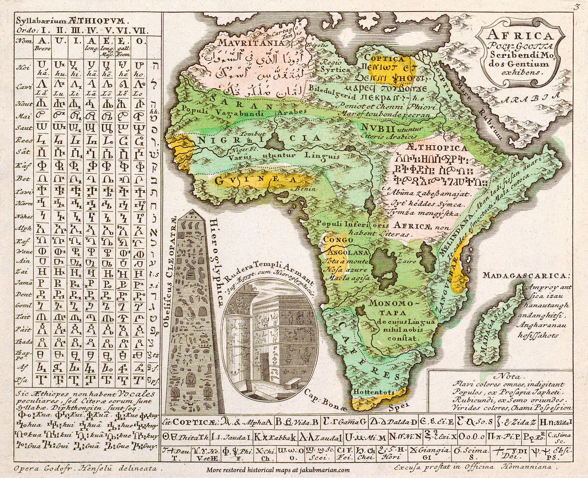 Hensel linguistic map of Africa