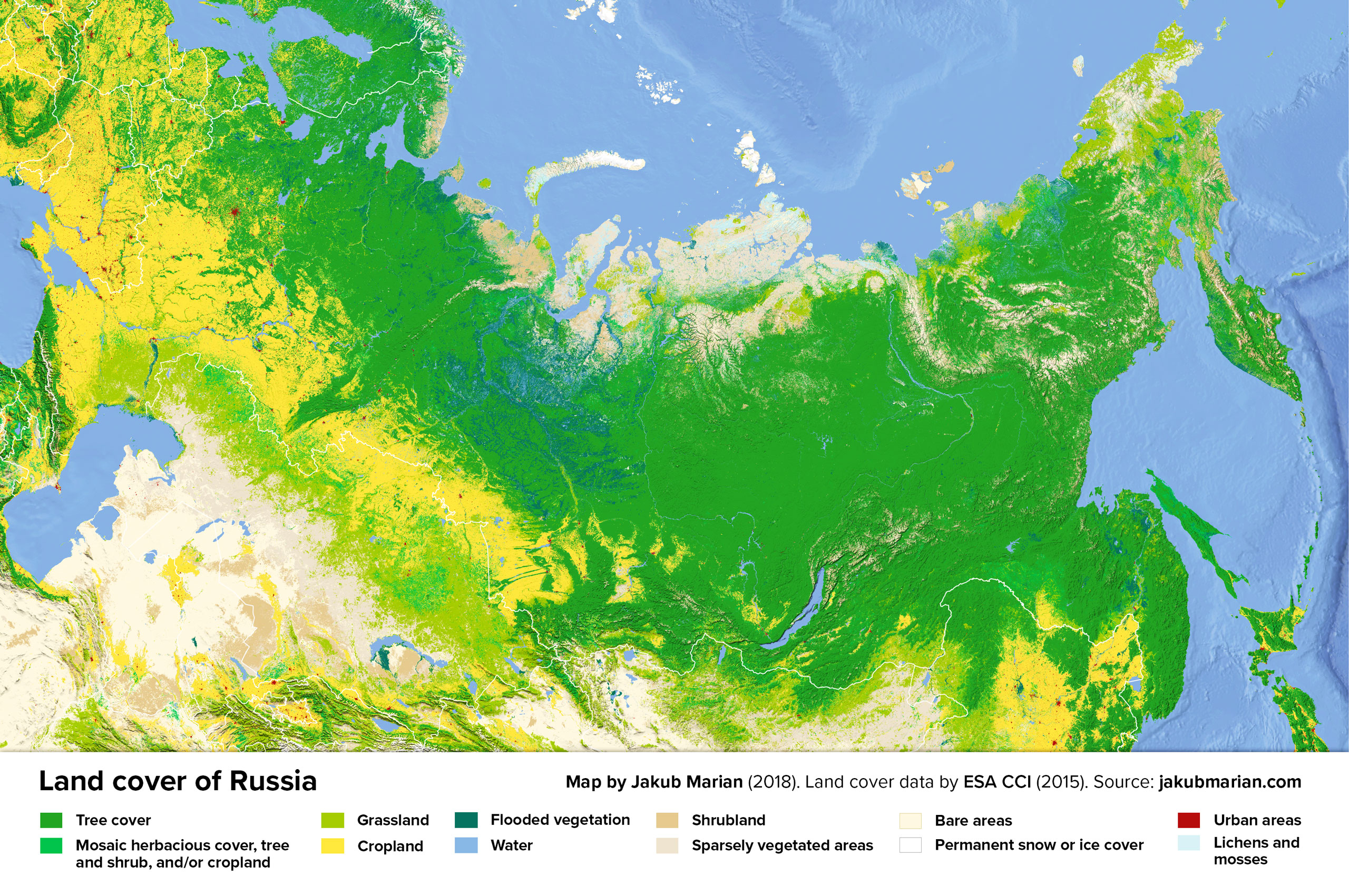Land cover of Russia