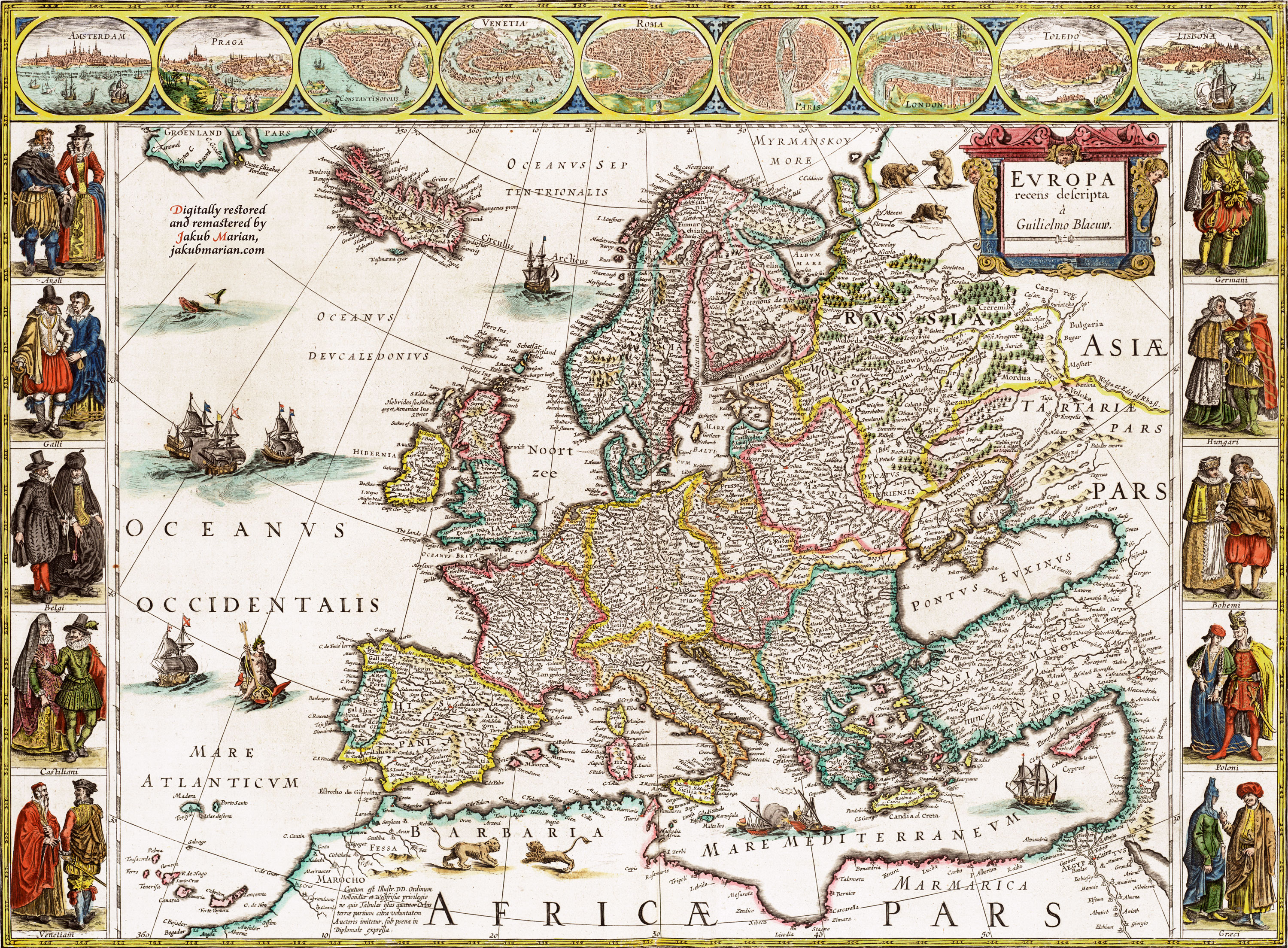 Blaeu Map of Europe